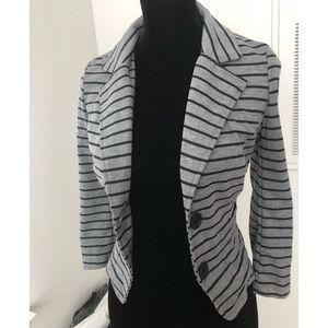 Jackets & Blazers - Grey & Black Blazer